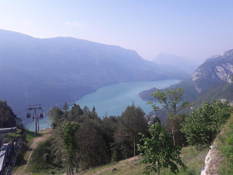 Molveno Lake from rifugio Pradel