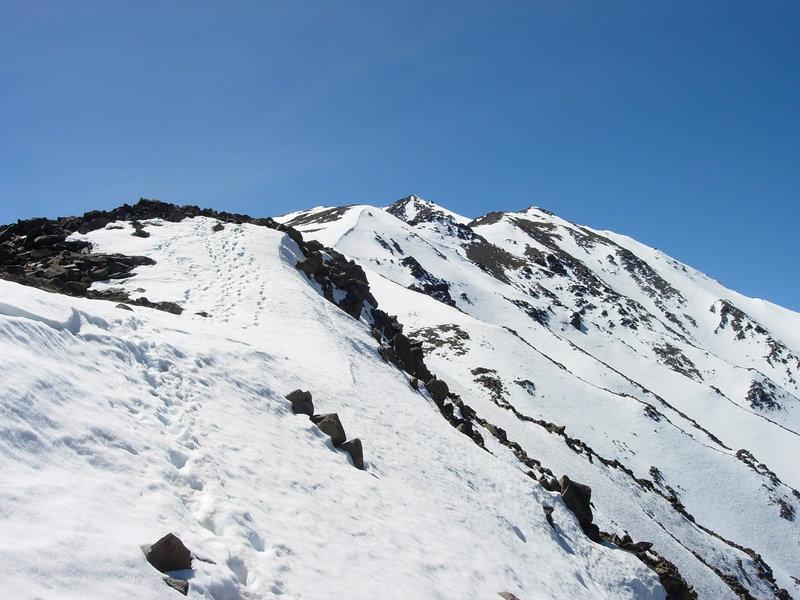 On the way to the top of El Manchón