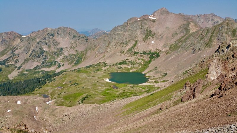 Deluge Lake from near the top of Snow Pass.