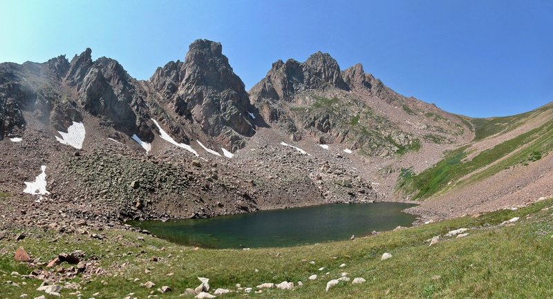Snow Lake, Snow Peak, and Snow Pass. This is the Gore Range at its best.
