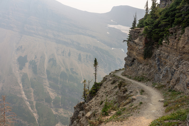 The ascent to Swiftcurrent Pass is not for the fainthearted, but rewards you with good views of Swiftcurrent Glacier.