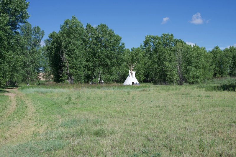 The trail passes a couple of teepees as it makes its way to the fort.