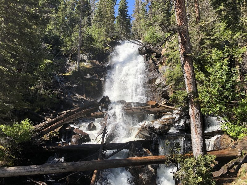 Fern Falls was flowing very strong from snow melt