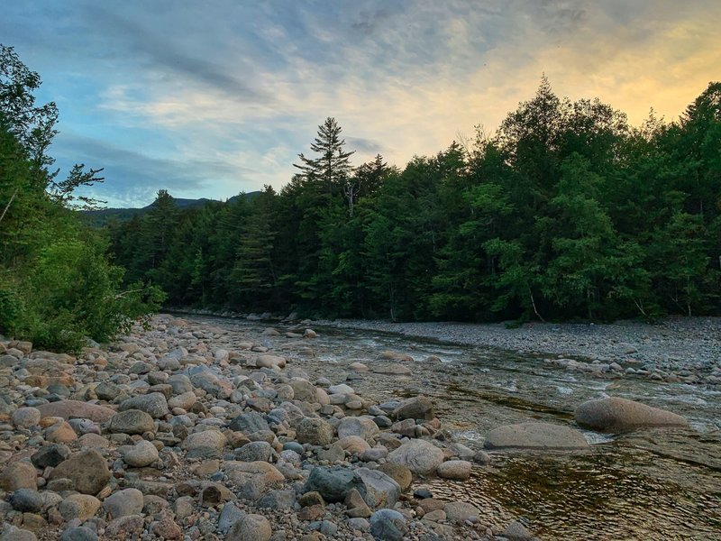The East Branch Pemigewasset River from Franconia Brook Tentsite.