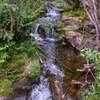 A series of waterfalls along Amethyst Creek