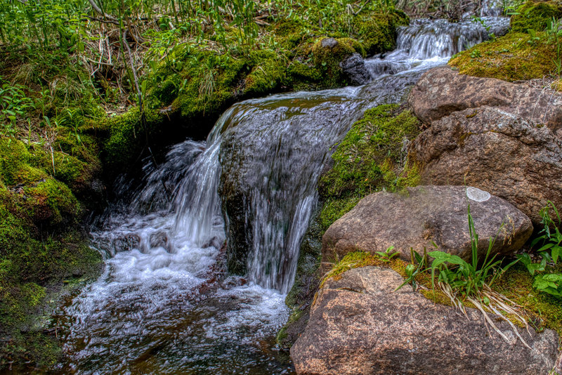 A waterfall along Amethyst Creek