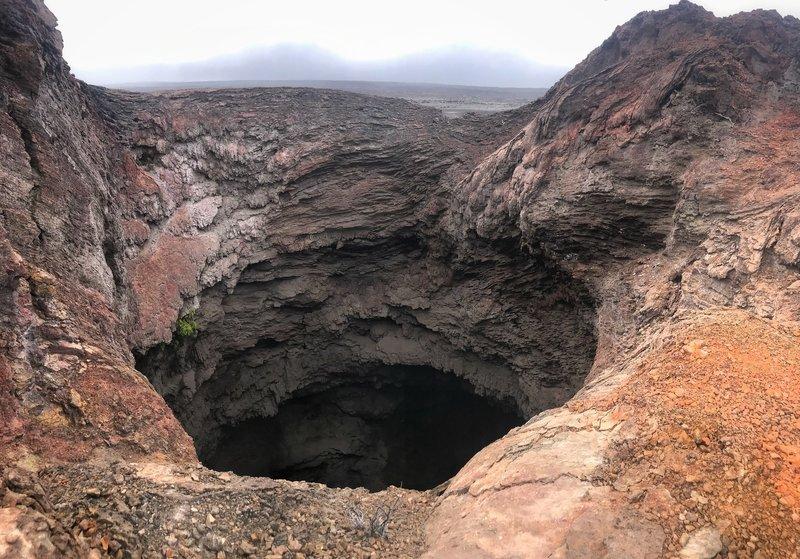 Splatter cone crater, Mauna Iki trail