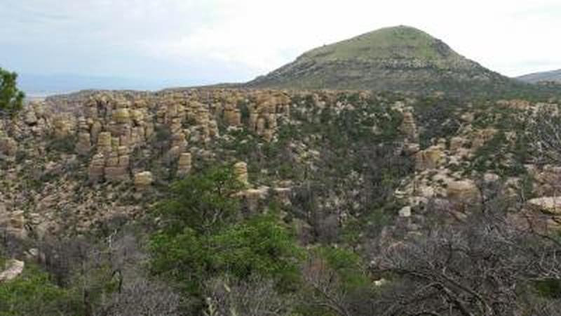 The rock formations Chiricahua National Monument is known for.