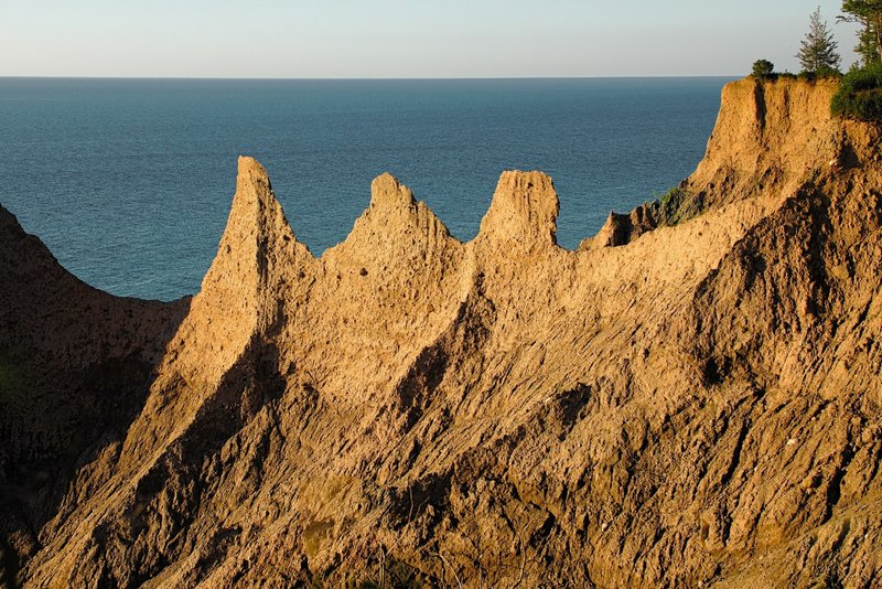 Just before Golden Hour at Chimney Bluffs State Park