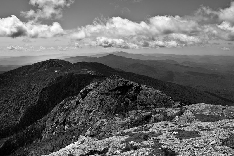 A one of a kind view from the Chin of Mt Mansfield, looking north onto the Long Trail