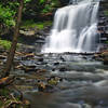 A summer view of Ganoga Falls in Rickets Glenn State Park