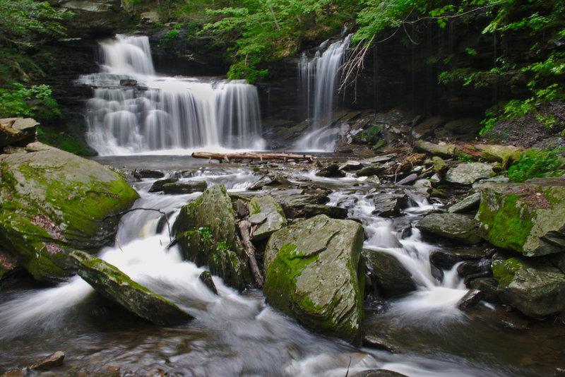 R.B Ricketts Falls in Ricketts Glen State Park, Pennsylvania