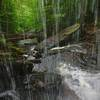 A view from the small crevice behind B. Reynolds Falls in Rickets Glen State Park, Pennsylvania.