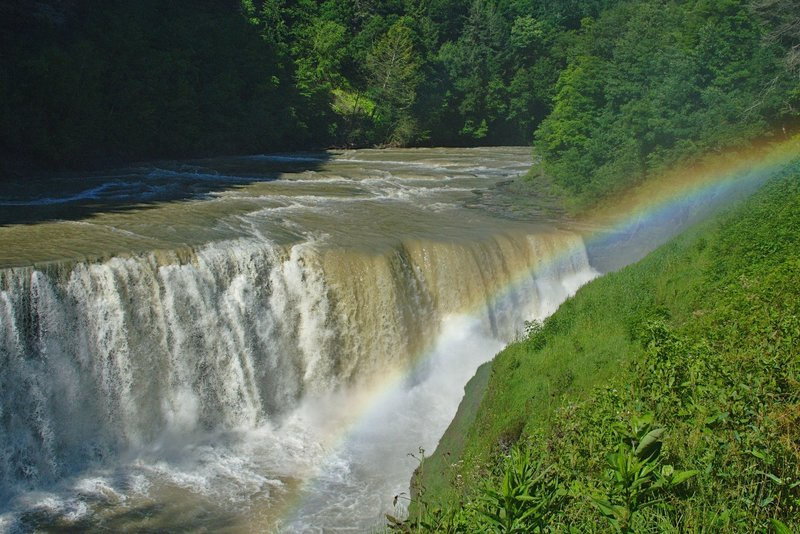 A rainbow born from the Lower Falls of Letchworth State Park, NY.