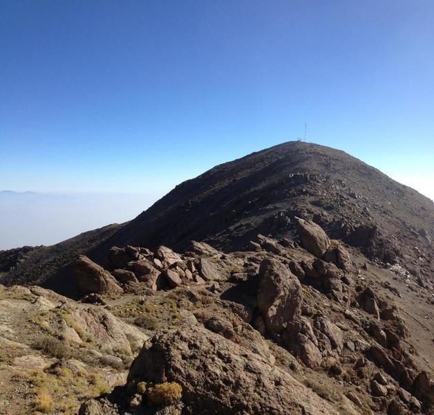 The summit of Cerro Cruz in the distance
