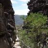 Narrow section of the Wonderland Loop