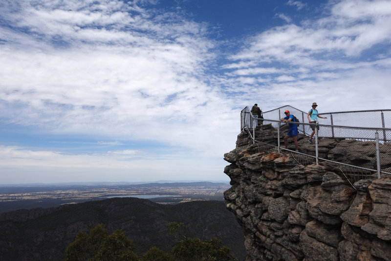 Hikers at the Pinnacle Outlook