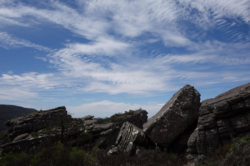 Serrated sky and rocks on the Wonderland Loop