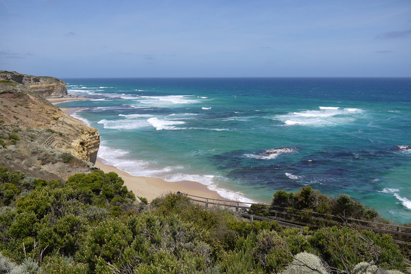 Gibson Beach viewed rom the top of the Gibson Steps at Twelve Apostles Marine NP