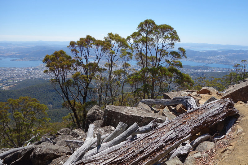 View of Hobart from the Organ Pipes track
