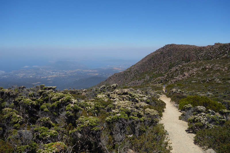 Looking down from near the top of the Zig Zag Track