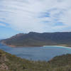 Wineglass Bay viewed from the Wineglass Bay Lookout