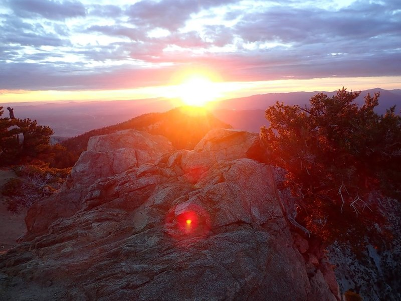 Sunrise on top of Cucamonga Peak