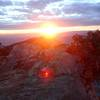 Sunrise on top of Cucamonga Peak