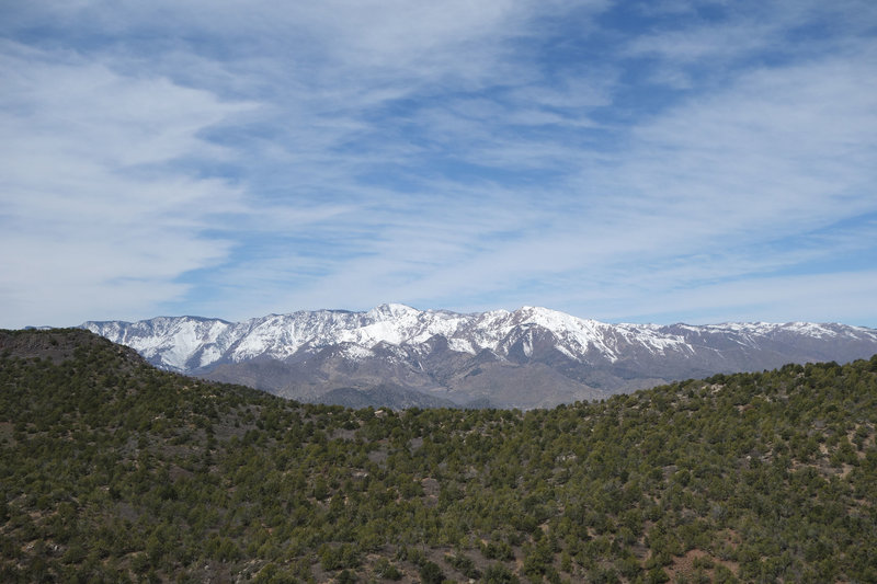 View west towards the Pine Valley Mountain Willderness Area across I-15
