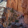 Two hikers ascend the North Kaibab trail