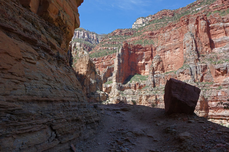 Rocky climb up the North Kaibab trail