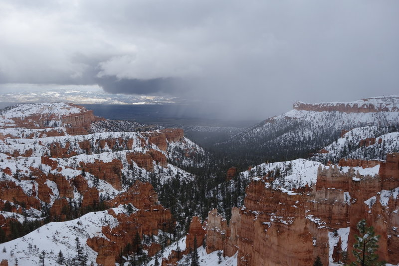 Late spring storm east of Bryce Canyon.