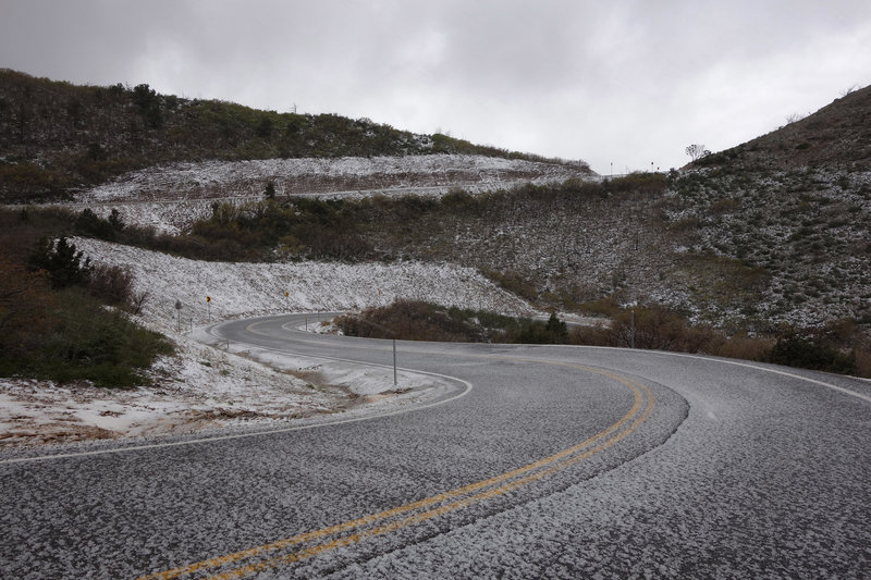 Winter in the La Sals can strike in May.