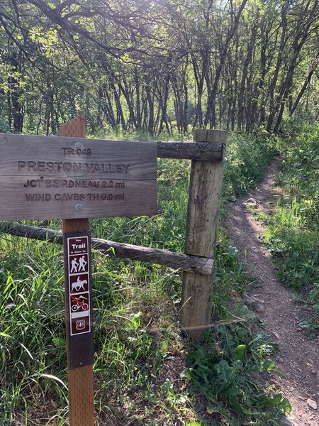 Preston Valley Trailhead