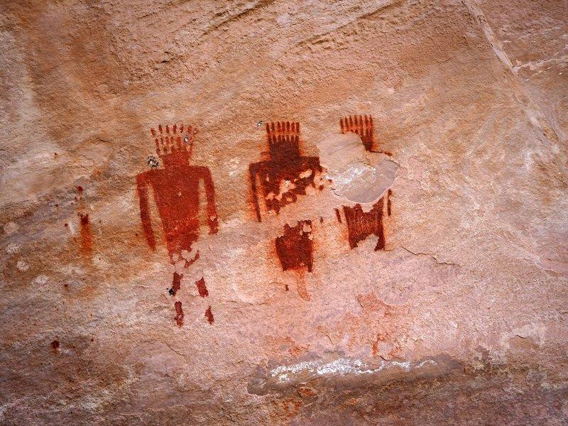 Fremont Culture petroglyphs in Jones Hole.