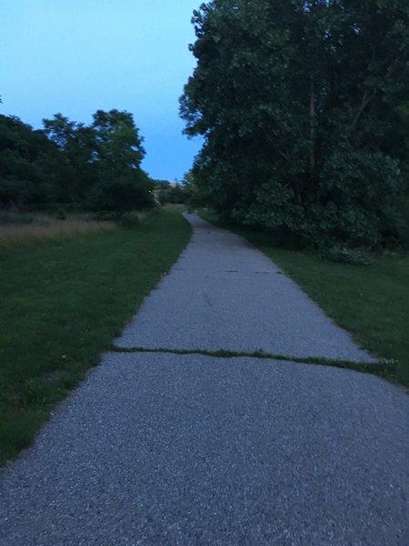 Path near Fuller road.