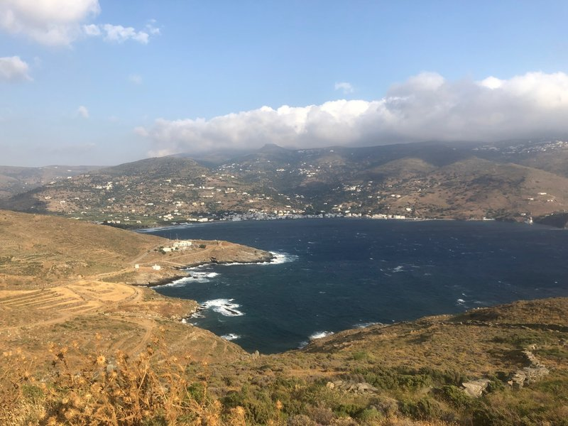 Korthi Bay on the descent.