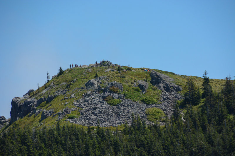 Silver Star's summit can be very crowded. Sturgeon Rock is lower and requires a short scramble so it gets ignored