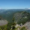L-R: Mt St Helens, Mt Rainier, Goat Rocks, and Mt Adams