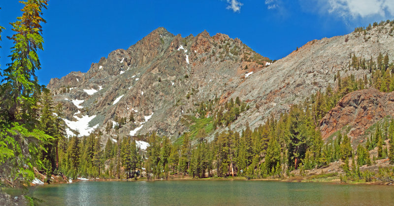 Superior Lake and the highest peak (10,532) of Red Top Mountain