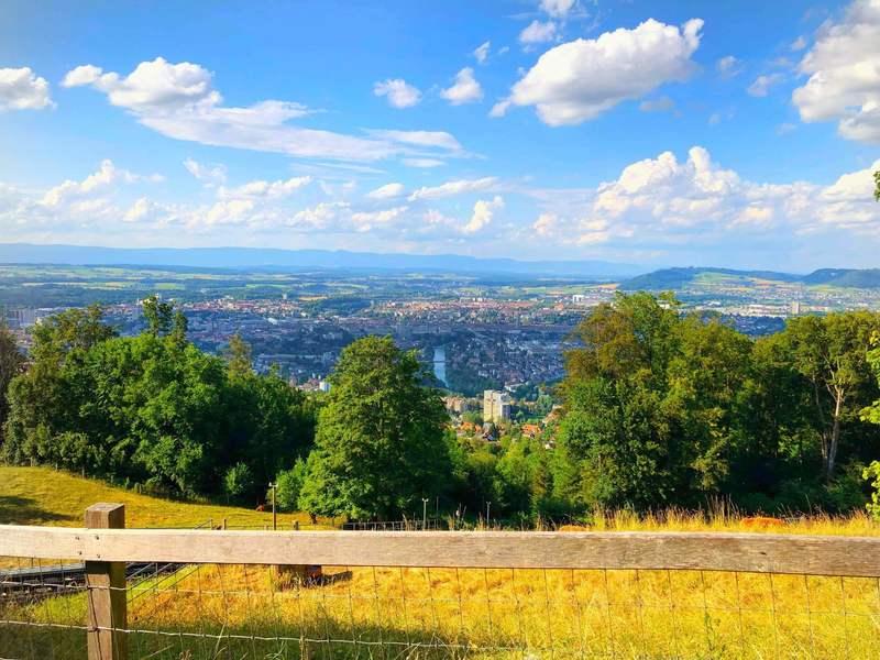 A bird's-eye view of Bern city