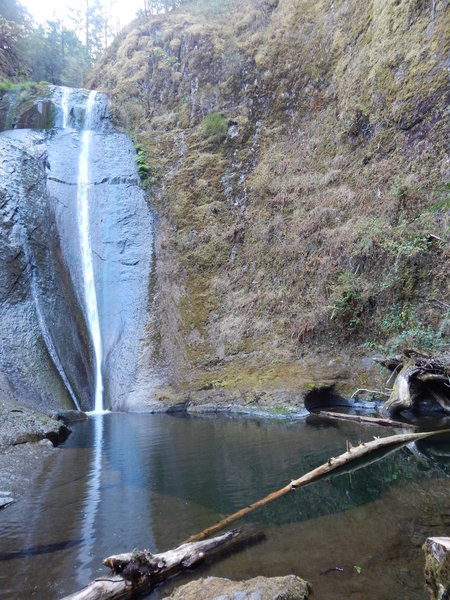 Wolf Creek Falls with very low water flow.