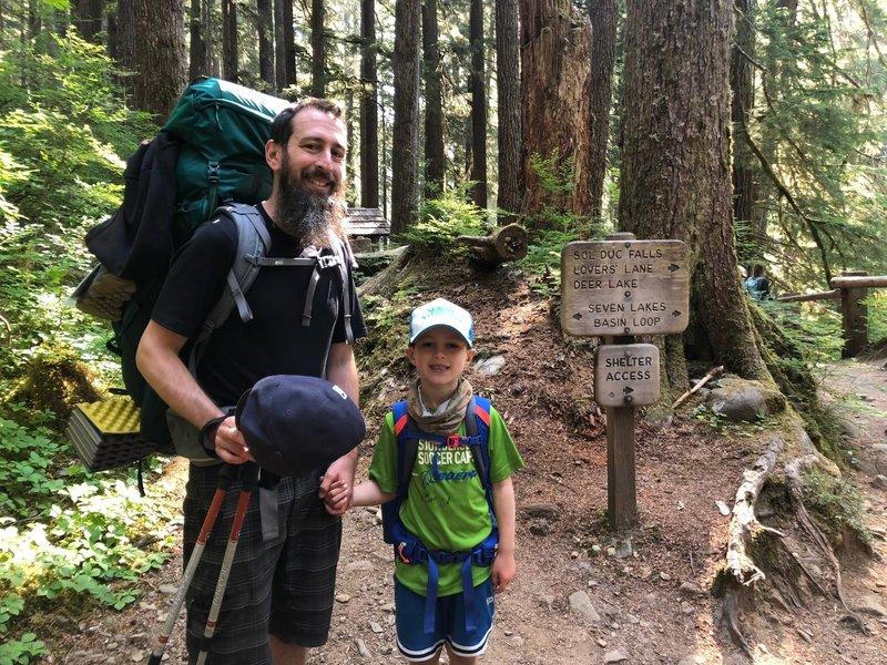 Seven Lakes Basin Loop sign again--we made it!