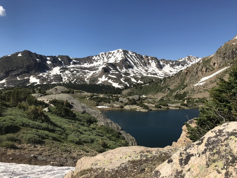 Worth the hike to get to this lake -- same trailhead as Mt. Massive, but lots of trees down made the hike a bit more challenging.