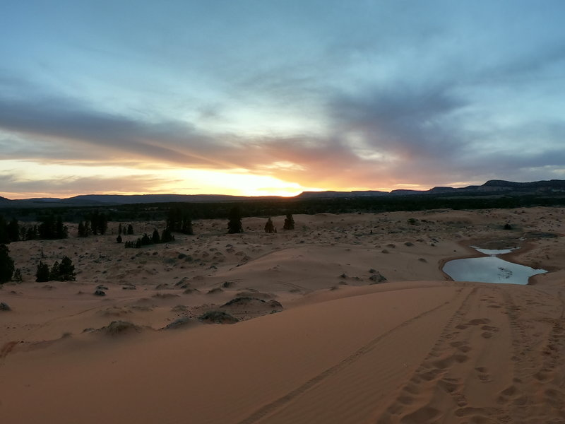 Great views from the top of the dunes!