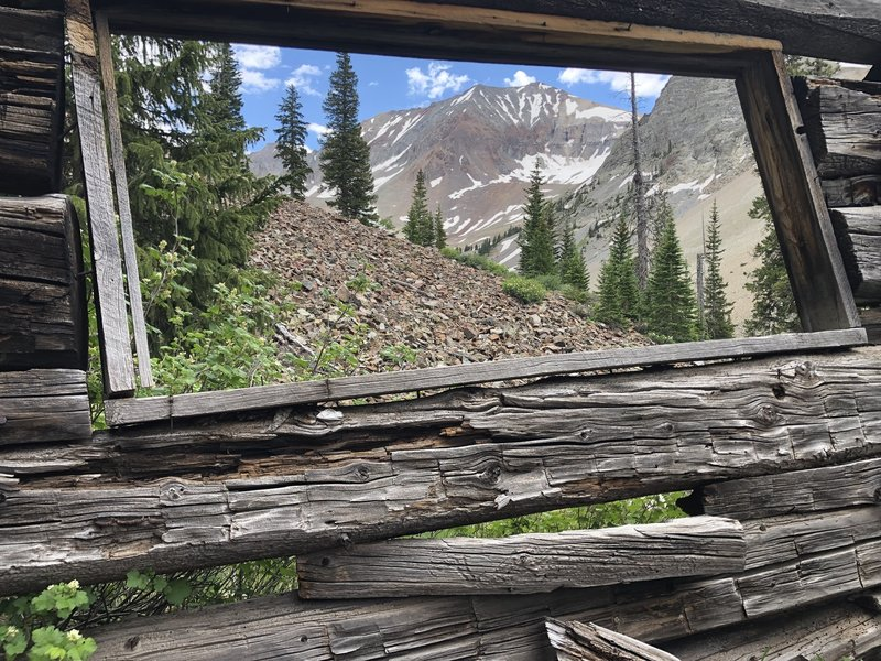 View from old log cabin at the top.