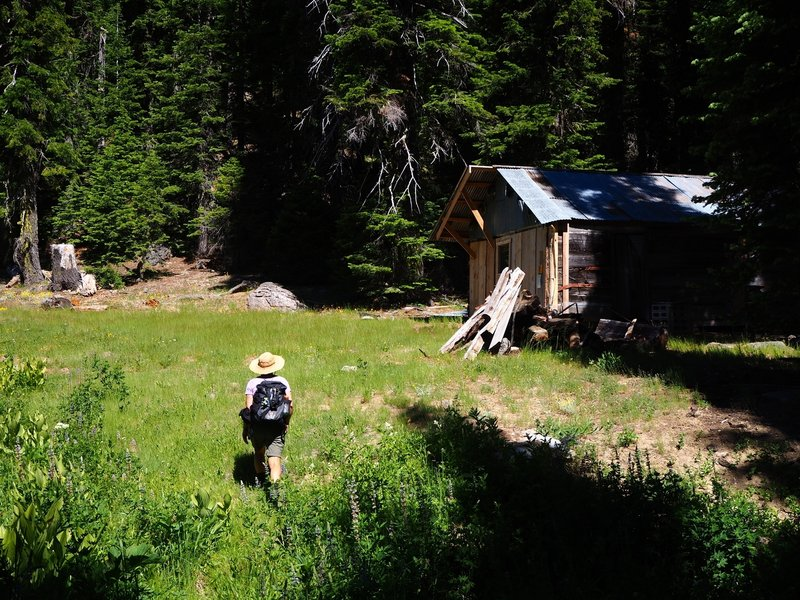 Kendall Cabin at the end of the trail