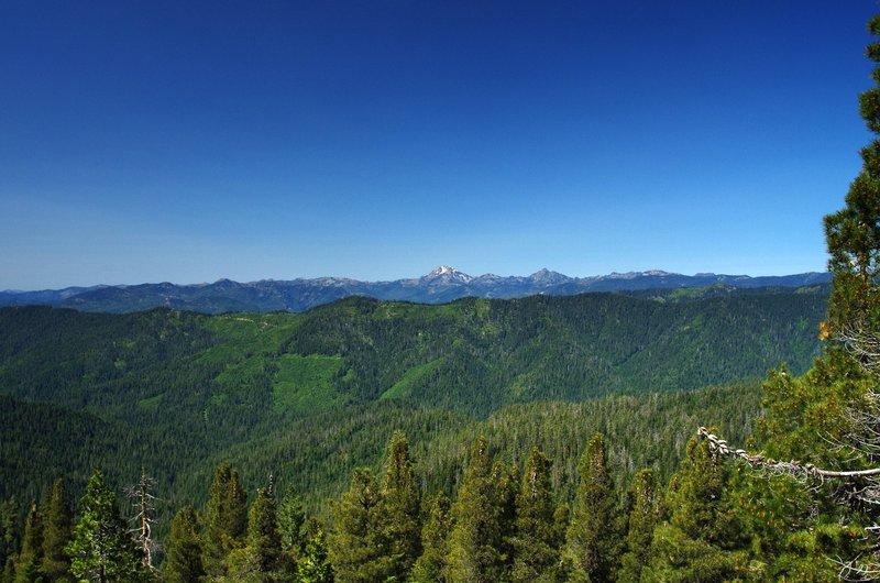 Looking west to Preston Peak in the Siskiyou Wilderness