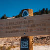 Continental Divide Trail (CDT) at Flora Peak, Colorado