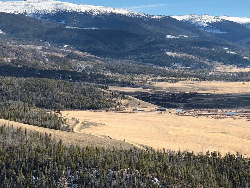 Views towards Devil's Thumb Ranch